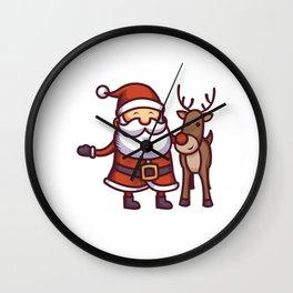 Jolly Santa Wall Clock