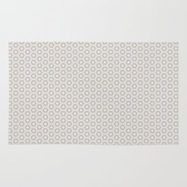 Hexagon Light Gray Pattern Rug