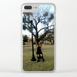 Dances With Lamp Posts Clear iPhone Case