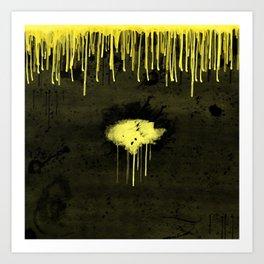 Yellow Drips Art Print