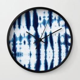 Linen Shibori Shirting Wall Clock