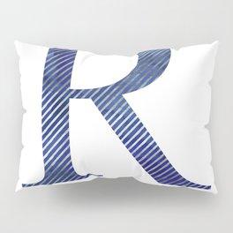 House Pride - R - Striped Watercolour (Silver) Pillow Sham