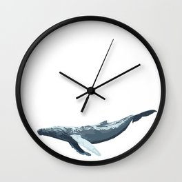 Galactic Whale Wall Clock