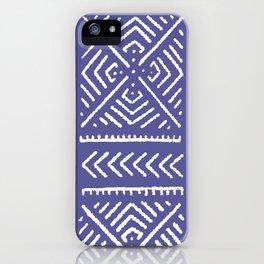 Line Mud Cloth // Iris iPhone Case