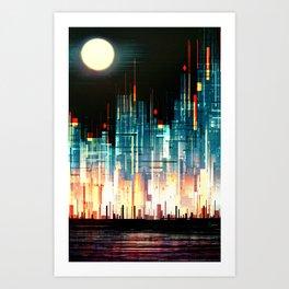 Gemcity Art Print