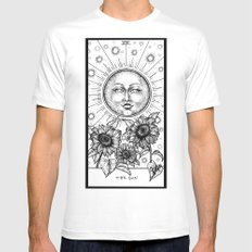 Sun Tarot White Mens Fitted Tee LARGE