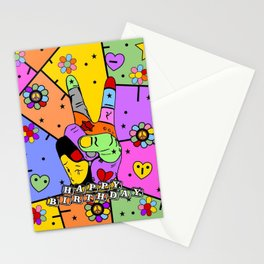 Peace Popart by Nico Bielow Stationery Cards