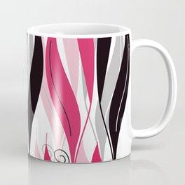 Digital Vector Drawing Leaves Coffee Mug