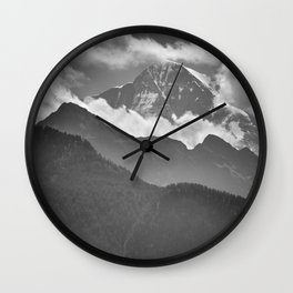 Lauterbrunnen Valley. Jungfrau Mountauin. 4.158 Meters. Swithzerland Alps Wall Clock