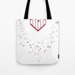 Music Heart Tote Bag