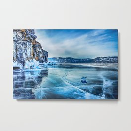 Lake Baikal. March Metal Print