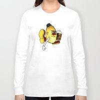 potato Long Sleeve T-shirts featuring Potato Skin by Sam Sinister