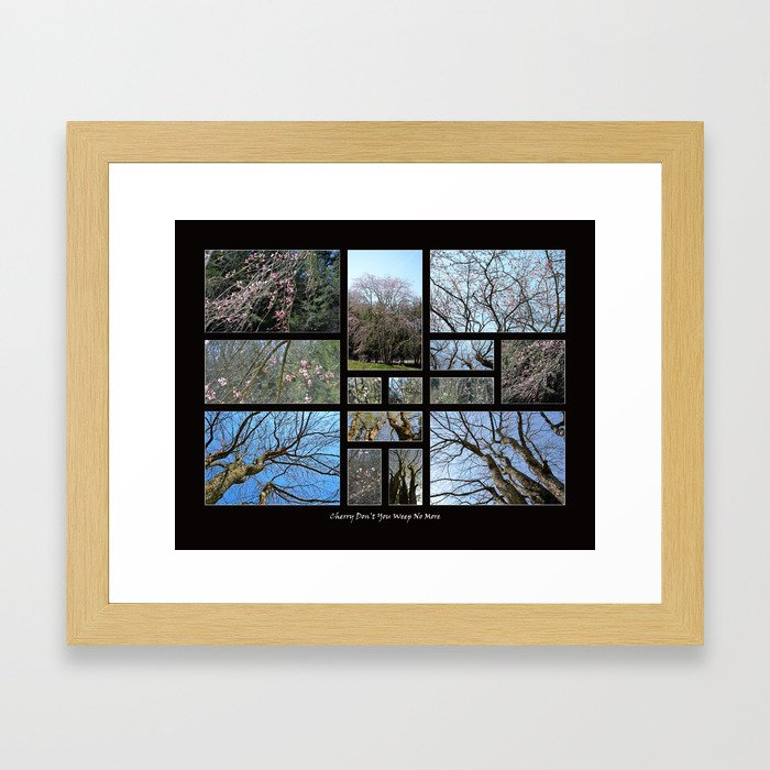 Cherry Don't You Weep No More (Collage) Framed Art Print