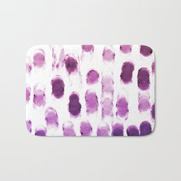 Purple Watercolor Brush Strokes Pattern Bath Mat
