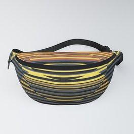 Optical Hypnotic Illusion 4 - Yellow Orange Blue Black Fanny Pack