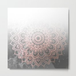 Pleasure Silence Ombre Metal Print