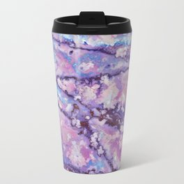 Violet and pink marble texture Travel Mug