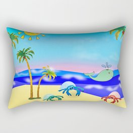 Beach Party for the Baby Crabs Rectangular Pillow