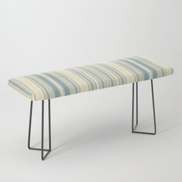 Seafoam Green Yellow Stripes Bench
