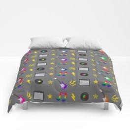 Punk Rock Rainbows Comforters