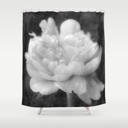 Peony in Black and White Shower Curtain
