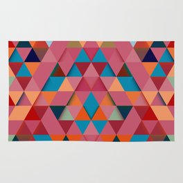 Colorfull abstract darker triangle pattern Rug