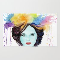 lana Area & Throw Rugs featuring Lana Parrilla Painting by Diejj Arts
