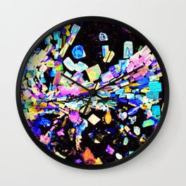 Strontium Platino Cyanide Crystals Wall Clock