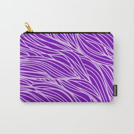 Violet Wave Lines Carry-All Pouch