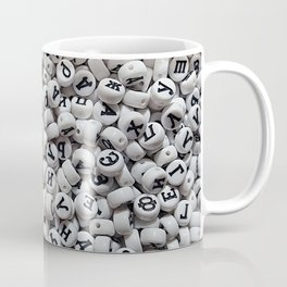 White plastic beads Coffee Mug