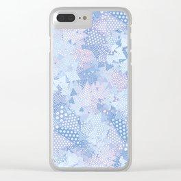 Blue Blue Clear iPhone Case