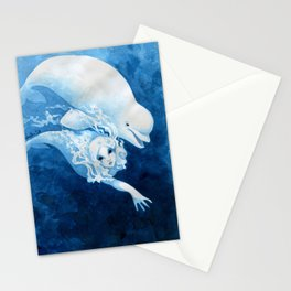 Beluga Mermaid Stationery Cards