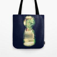 door Tote Bags featuring door by gzm_guvenc