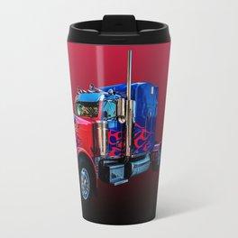 Optimus Prime Red Travel Mug