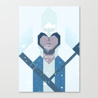assassins creed Canvas Prints featuring Connor / Assassins Creed by Maxim Nikitin