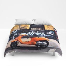 Orange Scooter Comforters
