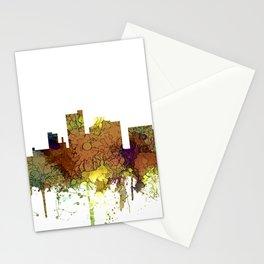Lubbock, Texas Skyline - Safari Buff Stationery Cards
