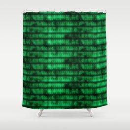 Green Dna Data Code Shower Curtain