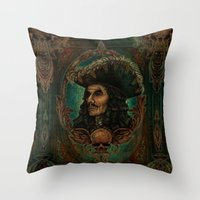 hook Throw Pillows featuring Hook by ManuelDA