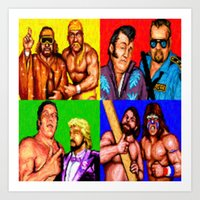 wrestling Art Prints featuring Wrestling Superstars by VGPrints