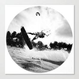 """WHEN THE TIME COMES"" kitesurf . kite . surf Canvas Print"