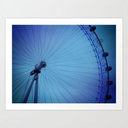 London Eye Blues Art Print