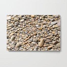River Rocks Pebbles Metal Print
