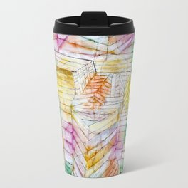 Theater-Mountain-Construction by Paul Klee, 1920 Travel Mug