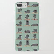 Black Pug Yoga iPhone 7 Plus Slim Case