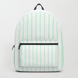 Summermint Green Pinstripe on White Pattern Backpack