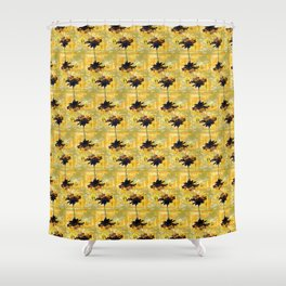 Yellow Gerber Daisies Shower Curtain