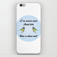tits iPhone & iPod Skins featuring About Tits by Pavlito