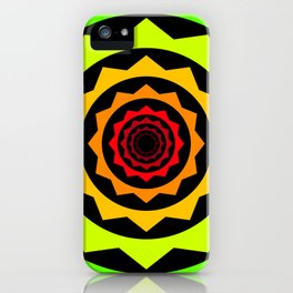 Abstract Spikey Tunnel iPhone Case