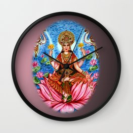 Goddess Lakshmi Wall Clock